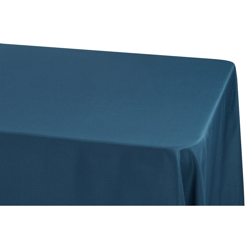 "Economy Polyester Tablecloth 90""x132"" Oblong Rectangular - Navy Blue"