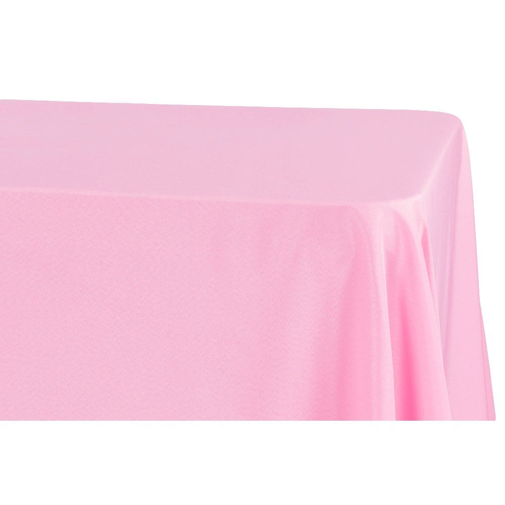 "Economy Polyester Tablecloth 90""x156"" Oblong Rectangular - Pink"