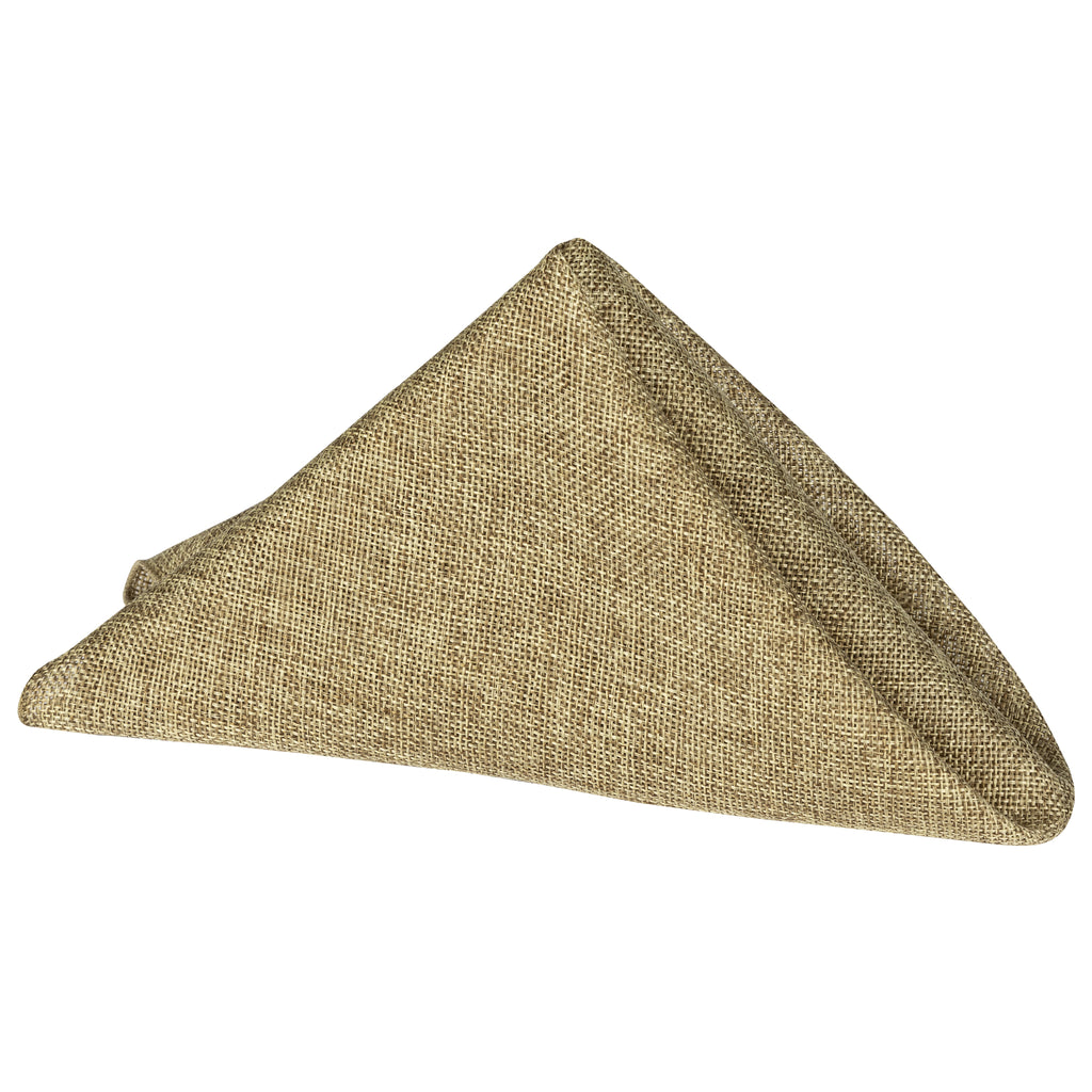 "Faux Burlap Linen Napkin 20""x20"" - Natural Tan"