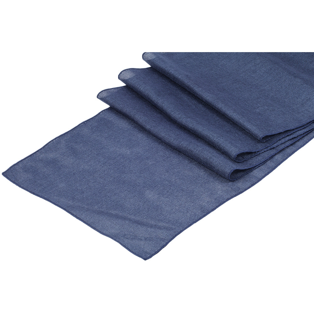 Faux Burlap Table Runner - Navy Blue