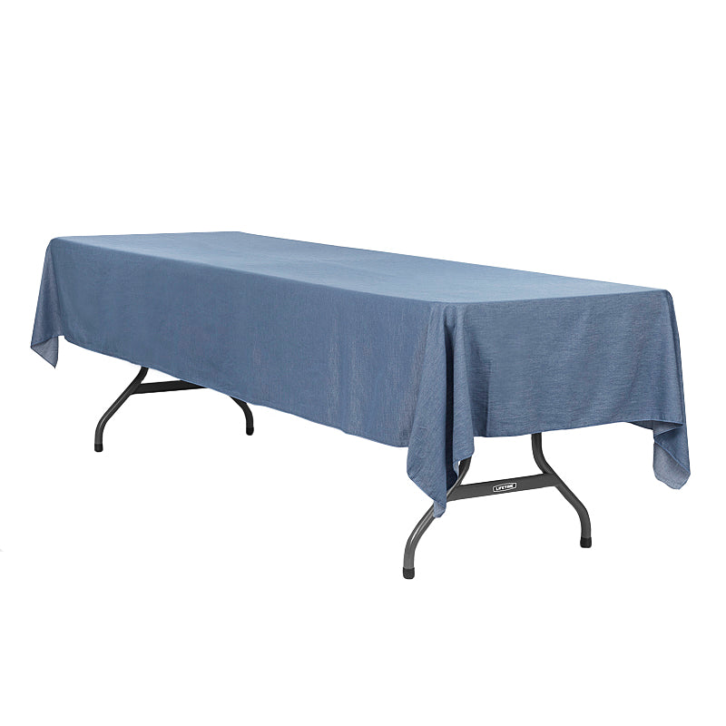 faux denim tablecloth 60 u0026quot x120 u0026quot  rectangular