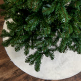 "Faux Fur Tree Skirt 48"" Round - White"