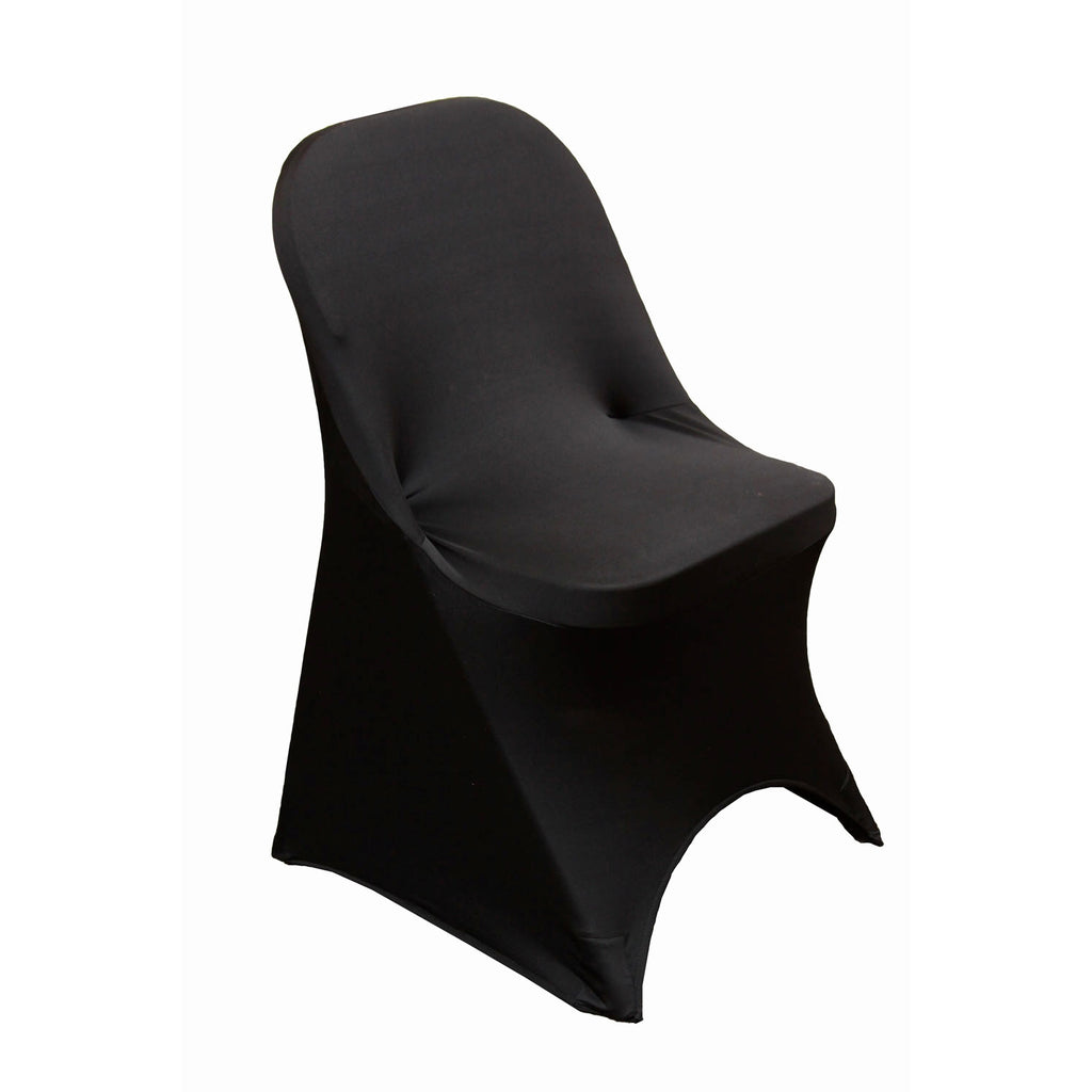 Folding Spandex Chair Cover - Black