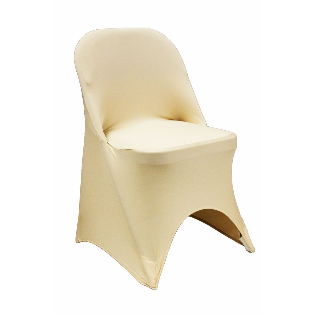 Folding Spandex Chair Cover Champagne At Cv Linens