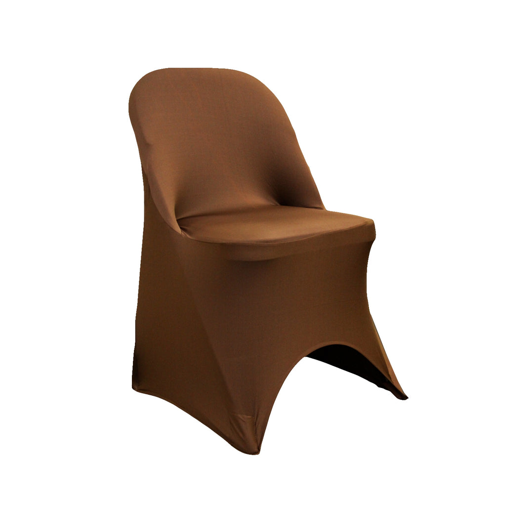 Miraculous Folding Spandex Chair Cover Chocolate Brown Gmtry Best Dining Table And Chair Ideas Images Gmtryco