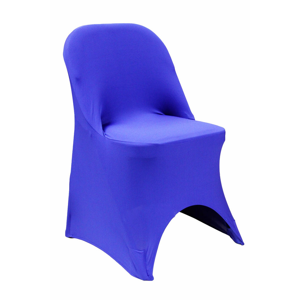 Swell Folding Spandex Chair Cover Royal Blue Machost Co Dining Chair Design Ideas Machostcouk