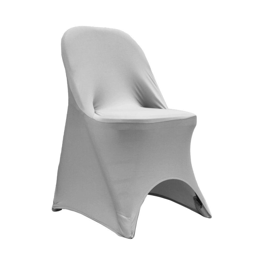 Folding Spandex Chair Cover Silver At Cv Linens