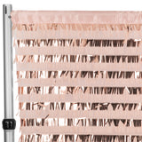 "Fringe Sequin 10ft H x 52"" W Drape/Backdrop panel - Blush/Rose Gold"