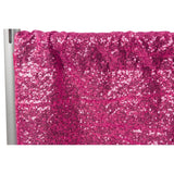 "Glitz Sequin 10ft H x 52"" W Drape/Backdrop panel - Fuchsia"