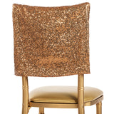 "Glitz Sequin Chiavari Chair Cap 16""W x 14""L - Copper"
