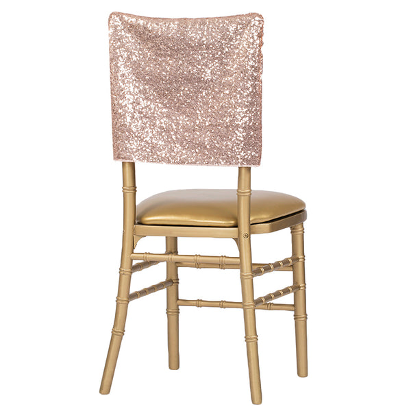Glitz Sequin Chiavari Chair Cap 16 Quot W X 14 Quot L Blush Rose