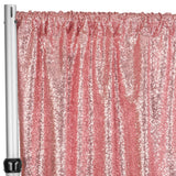 "Glitz Sequin 10ft H x 52"" W Drape/Backdrop panel - Dusty Rose/Mauve"