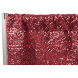 "Glitz Sequin 12ft H x 52"" W Drape/Backdrop panel - Burgundy"