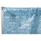 "Glitz Sequin 8ft H x 112"" W Drape/Backdrop panel - Baby Blue"