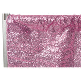 "Glitz Sequin 10ft H x 112"" W Drape/Backdrop panel - Pink"