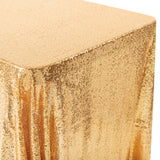"Glitz Sequin Mesh Net Tablecloth  90""x132"" Rectangular -  Gold"