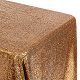 "Glitz Sequin 90""x132"" Rectangular Tablecloth - Copper"