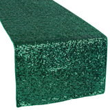 Glitz Sequin Table Runner - Emerald Green