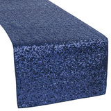 Glitz Sequin Table Runner - Navy Blue