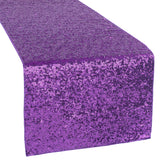Glitz Sequin Table Runner - Purple