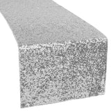 Glitz Sequin Table Runner - Silver
