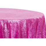 "Glitz Sequins 120"" Round Tablecloth - Fuchsia"