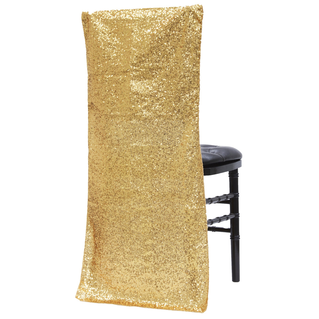 Phenomenal Glitz Sequin Chiavari Full Chair Back Cover Gold Machost Co Dining Chair Design Ideas Machostcouk
