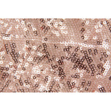 "Diamond Glitz Sequin Rectangular Tablecloth 90""x132"" - Blush/Rose Gold"
