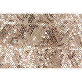 "Diamond Glitz Sequin Table Overlay Topper 85""x85"" square - Champagne"