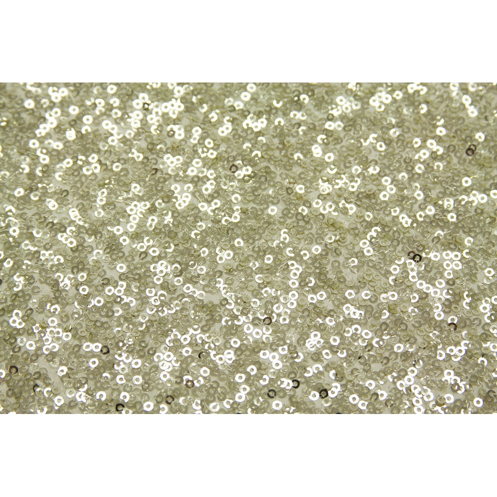 10 yards GLITZ Sequins Fabric Bolt - Ivory
