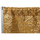"Glitz Sequin 8ft H x 52"" W Drape/Backdrop panel - Gold"