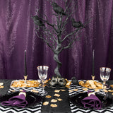Chevron Satin Table Runner - Black