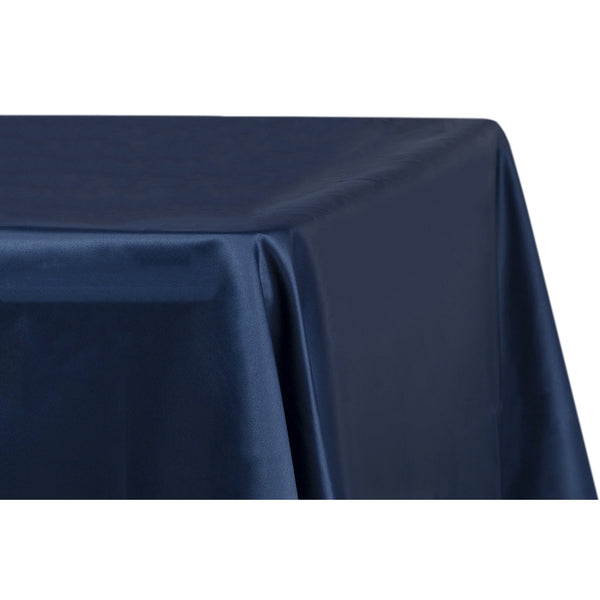 Lamour Satin 90 X 132 Inch Rectangular Tablecloth Navy