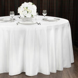 "Lamour Satin 132"" Round Tablecloth - White"