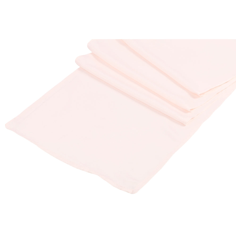 Lamour Satin Table Runner - Pastel Pink