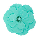 Large Foam Magnolia Flower Wall Decor 30 cm - Turquoise