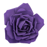 Large Foam Rose Wall  Decor 40 cm - Purple