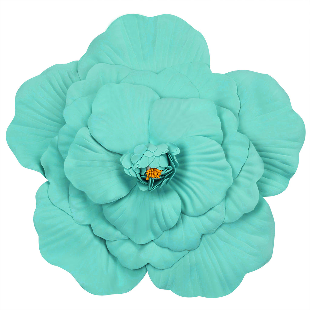 Large Foam Wedding Flower Wall backdrop decor 40 cm - Turquoise