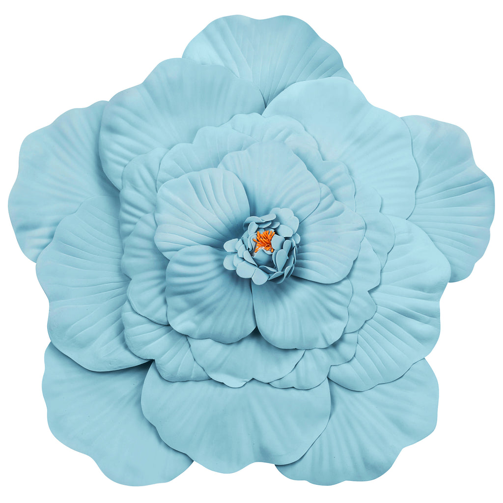 Large Foam Wedding Flower Wall Backdrop Decor 50 cm - Baby Blue