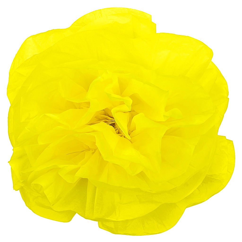 Large Paper Rose Flower Tissue Wall Backdrop/Chairs 50cm - Yellow