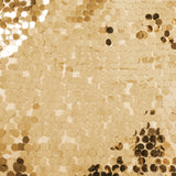 10 yards Large Payette Sequins Fabric Bolt - Gold