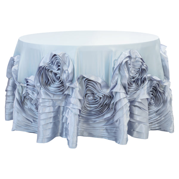 Large Rosette Flower Tablecloth 108 Quot Round Dusty Blue