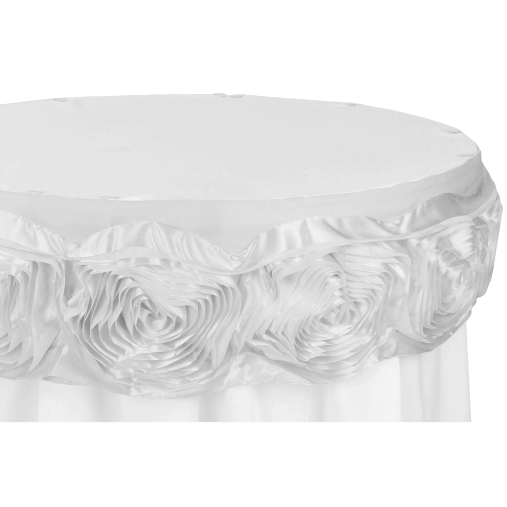 14FT Large Rosette Table Trim with Velcro - White