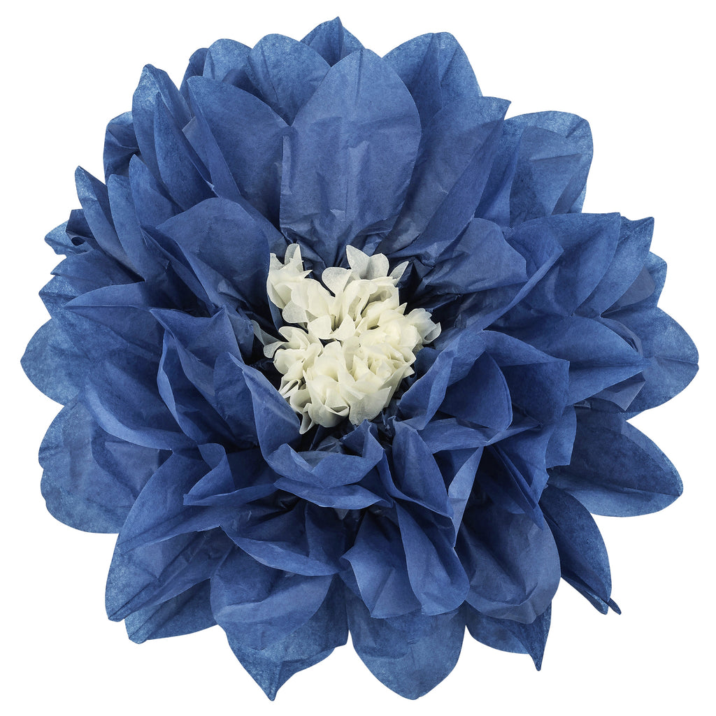 Large Tissue Daisy Flower Wall Backdrop Decor 43cm - Navy Blue
