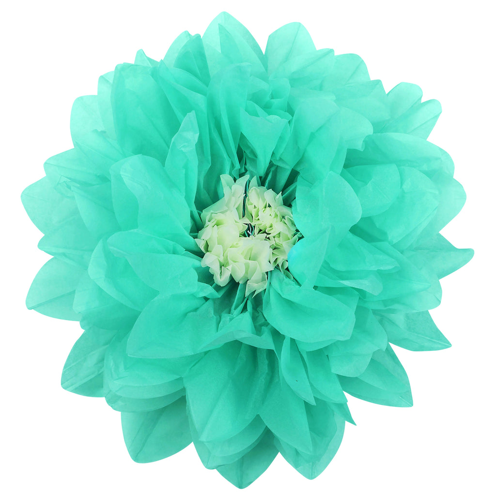 Large Tissue Daisy Flower Wall Backdrop Decor 43cm - Turquoise Green