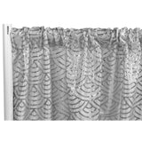"Mermaid Scale Sequin 8ft H x 52"" W Drape/Backdrop panel - Silver"
