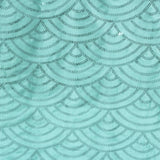 Mermaid Scale Sequin Fabric Roll 10 yards - Turquoise