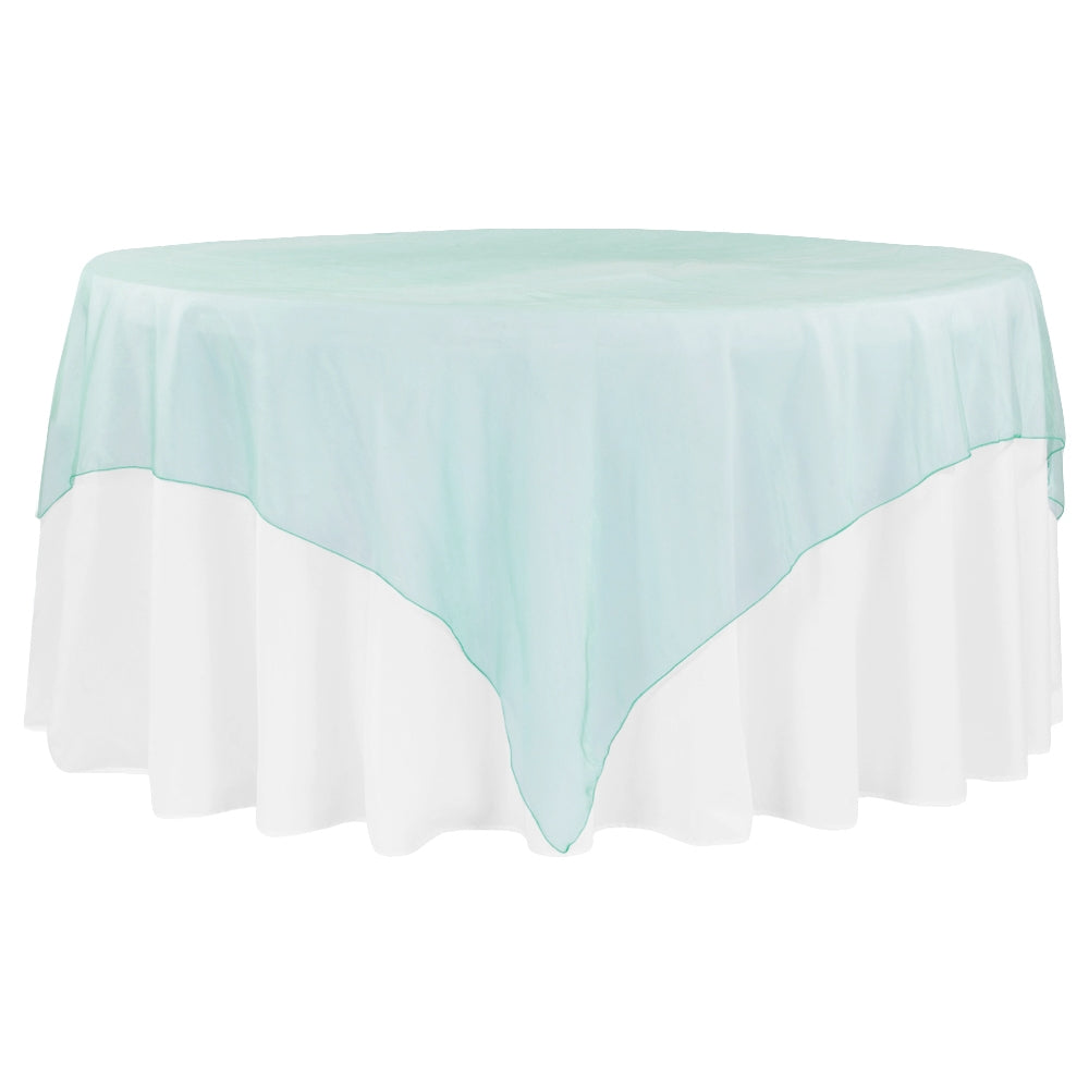 "Organza 90""x90"" Square Table Overlay - Dark Turquoise"
