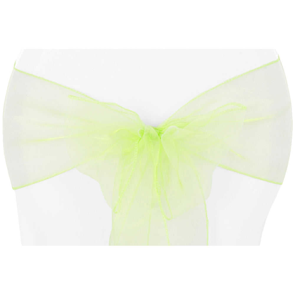 Organza Chair Sash - Apple Green (Clearance)