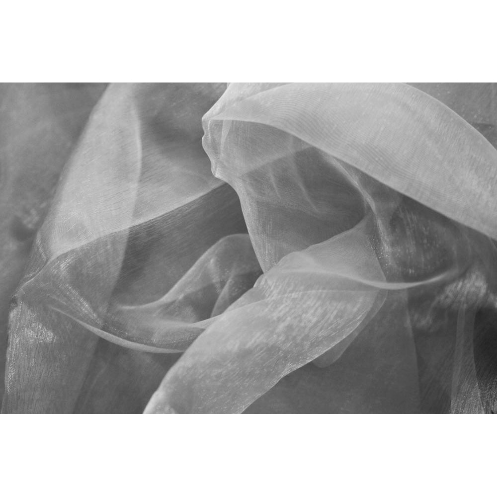 40 yds Organza Fabric Roll - Silver